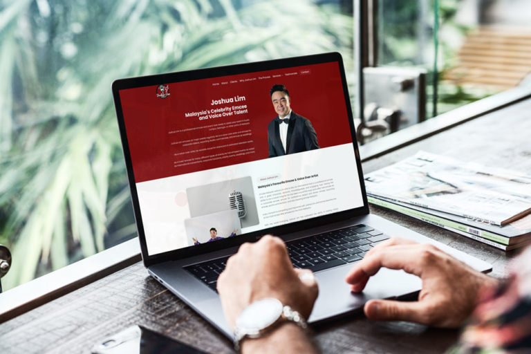 web design and seo project for emcee joshua lim